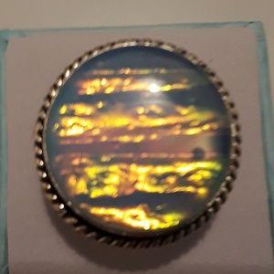 Australian triple opal ring size 6 3/4 new